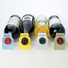 100 Wine Enthusiast Color Coded Wine Bottle Tags at Wine Enthusiast - $19.95