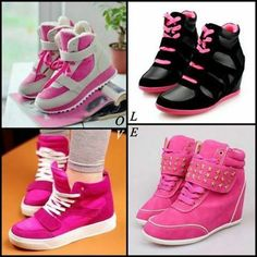 Sneaker love it; Pink Sneakers, Canvas Sneakers, Hot Shoes, Edgy Outfits, All About Fashion, Girly Things, Pretty In Pink, Shoe Boots, My Style