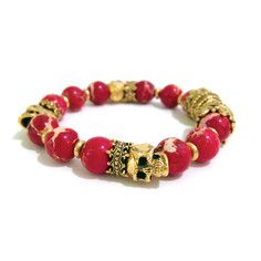 Crowned Emperor Bracelet Red, $58, now featured on Fab.