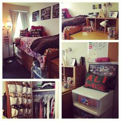 Style Advisor Ali Dulman shows off great storage and organization tips in her dorm room. We love the pictures hung on the wall, and the window panels for added texture. We're big fans of her decorative pillows and soft throw. Ali did a great job of making her dorm room feel more personal.