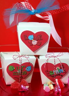 Cute Valentine Chinese take out boxes. Free Printable!