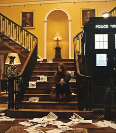 I love that this is the same set used as the Tyler's house in the parallel universe. Welcome to BBC.