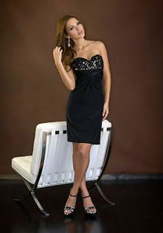 Delicate Empire Elastic Silk Like Satin Sweetheart Short Length Evening Party Gown - Lunadress.co.uk
