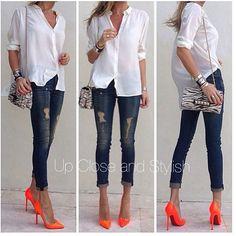Jeans outfit. Shoe random