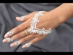 White henna design five