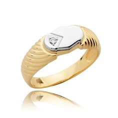 Goldenstar 0.20 ct jaune Diamant Demi-Eternity Band