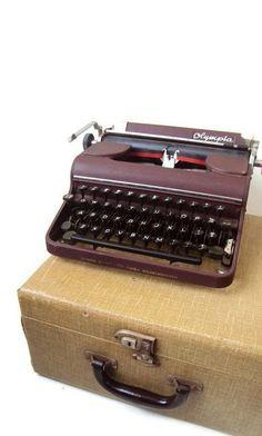 Vintage Olympia Typewriter Manual Portable
