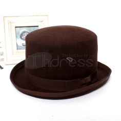 Woolen stage top hat Bowler Hat, Hats, Stage, Top, Fashion, Moda, Hat, Fashion Styles, Fashion Illustrations