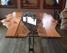 Kante Edge Tabelle umgekehrt Live Edge Ernte Tabelle Live Tabelle Conference Tabelle aufgearbeiteten Holz Konferenztisch zu leben