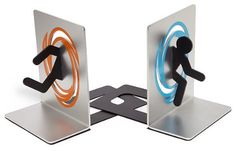 Portal Home Decor - Portal Decoration - Portal Bookends - Portal Bedroom - Portal Gift - Geeky Gift