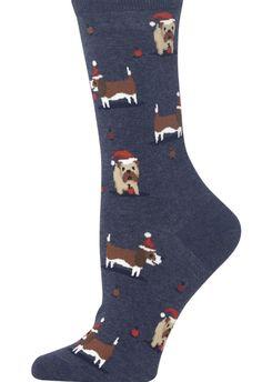 Flying Pig Socks Mens Farm Animal Novelty Fashion Cotton Blend Crew Purple Socks
