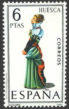 Collection of Spanish stamps:  1968 Huesca