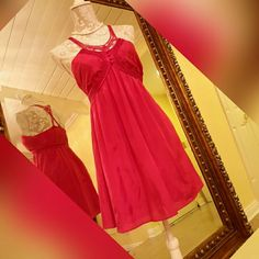 Marianas gourgouse hot pink silk dress Simply adorable as new never worn mariana Dresses