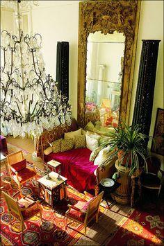 Loulou de la Falaise's apartment in Paris