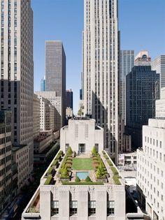 Top of the Rock Roof Garden - 42 Rockefeller Center NYC