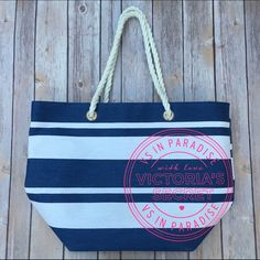 Victoria's Secret Beach Tote Bag Used once! Ships Immediately! PINK Victoria's Secret Bags Totes
