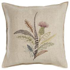 Autumn Thistle Pillow