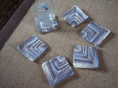 Set of 6 Mitered Square Coasters In Self by AngelinaElizabeth, $7.00