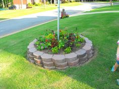 landscaping with flag pole - Google Search