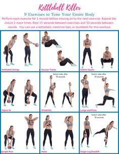 Kettlebell Workout Routines, Kettlebell Training, Gym Workouts, At Home Workouts, Kettlebell Circuit, Kettlebell Challenge, Upper Body Kettlebell Workout, Kettlebell Benefits, Boxing Workout