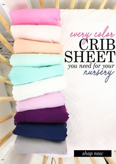 Crib Sheets in every color and style! Fall in love with the nursery you create. Crib Sheets, Crib Bedding, Nursery Design, Baby Cribs, Baby Things, Finding Yourself, Babe, Pajamas, Create