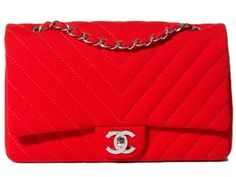 Love the red Chanel. Pair this with red shoes, and a black or grey suit? PERFECTION.