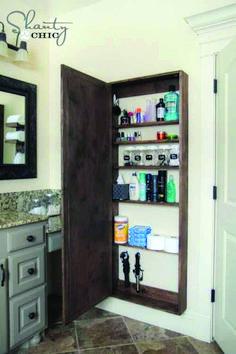 Trendy ideas for narrow bathroom storage cabinet floors Narrow Bathroom Storage, Bathroom Mirrors Diy, Small Bathroom Organization, Cheap Bathrooms, Diy Bathroom Remodel, Shower Remodel, Small Bathrooms, Bathroom Ideas, Bathroom Lighting