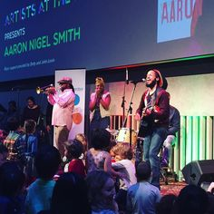 Family jamming with @aaronnigelsmith with LC Kids! #MacKid