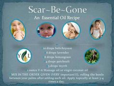 Scar be gone - recipe as listed is a 4% dilution