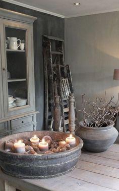 Einblick in die Wohnküche Styling & Living, Estilo Cottage, Estilo Interior, Vibeke Design, Interior Decorating, Interior Design, Home And Deco, Rustic Interiors, Wabi Sabi, Decoration
