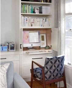 Kleine Räume ganz groß | Schreibtische, Schränkchen und Büros