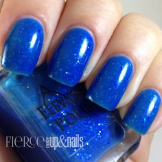 Azure Caverns: Bright blue jelly base with iridescent glitters, and blue micro glitter.