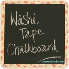 Washi Tape Chalkboard