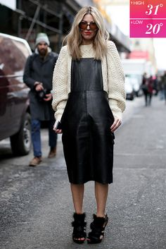 Would You Wear THIS in a Blizzard?: Don't underestimate the style prowess or sheer willpower of the street style set at Fashion Week.