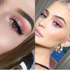 Kylie Jenner inspiriert Make-up meine ig . - Make-up, Hair, and Nails - Kendall Jenner Makeup, Kylie Makeup, Pink Eye Makeup, No Eyeliner Makeup, Day Makeup, Cute Makeup, Makeup Art, Awesome Makeup, Makeup With Pink Dress
