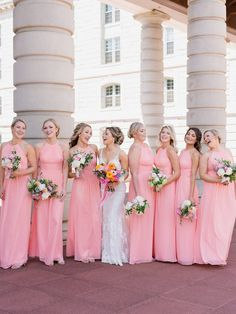 Bubblegum Pink Bridesmaids Dresses Added a Burst of Color to This Annapolis Wedding dresses pink bridesmaid Bubblegum Pink Bridesmaids Dresses Added a Winning Burst of Color to this Annapolis Wedding Light Pink Bridesmaid Dresses, Country Wedding Dresses, Wedding Bridesmaid Dresses, Wedding Party Dresses, Pink Bridesmaids, Wedding Country, Bridesmaid Proposal, Maid Of Honour Dresses, Marie