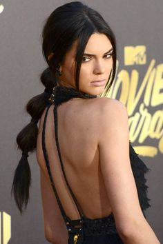 11 unique, roped and braided ponytail hairstyle ideas to try now: Kendall Jenner's bubble ponytail