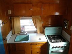 Interior of 1962 Yellowstone trailer... not that I want to camp.