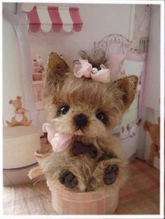 "PDF Instant Download - Pattern / E-Book Yorkshire Terrier Puppy  ""  PEBBLES "" :) - 5 Inch - Eileen Seifert - Teddy-Manufaktur.de"