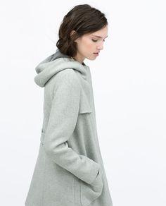HOODED WOOL COAT-Outerwear-WOMAN | ZARA United States