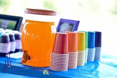 """Photo 2 of 46: rainbow, colors / Birthday """"Jalyssa's colorful 1st Brithday""""   Catch My Party 1st Birthday Party Themes, Rainbow Birthday Party, Birthday Bash, Birthday Ideas, Rainbow Party Decorations, Rainbow Parties, Rainbow Spa, Prince Birthday, Twin First Birthday"""