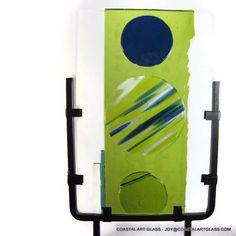 Art Glass Garden Sculpture Green Blue Planet by coastalartglass, $225.00