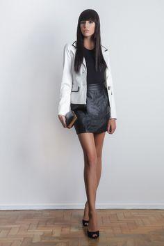 #gverri #gverristore #inverno2013 #blaser #pretoebranco #saia #couro #clutch #moda #fashion