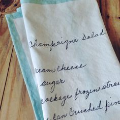 Vintage Recipe Tea Towels DIY