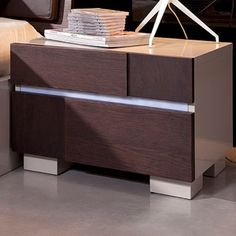 Modrest Anzio 2 Drawer Nightstand