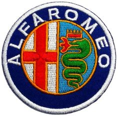 Alfa Romeo Automobiles Motorsport Car Racing Team DIY Applique Embroidered Sew Iron on Patch - http://www.carhits.com/alfa-romeo-automobiles-motorsport-car-racing-team-diy-applique-embroidered-sew-iron-on-patch/ - CarHits