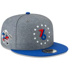 Philadelphia 76ers New Era 2018 City Edition On-Court 9FIFTY Snapback Adjustable  Hat – Gray 966086437d76