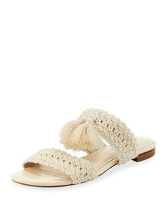 b902069ffb6 Shop Faina Crochet Flat City Slide Sandal