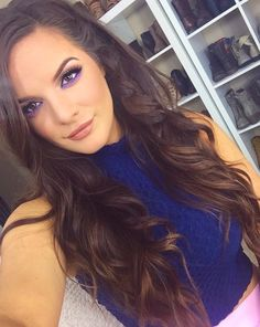 From the hair, makeup, outfit, to the shoes in the back ! Beauty Makeup, Hair Makeup, Hair Beauty, Casey Holmes, Beauty Youtubers, Pretty Makeup Looks, Perfect Makeup, Gorgeous Hair, Cut And Color