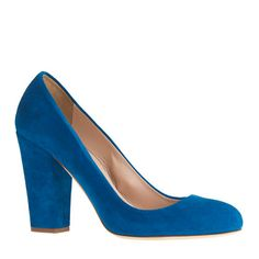 J.Crew - Pre-order Blakely suede pumps. Amazing color, treat it like a neutral for spring.